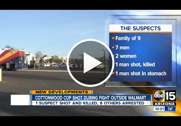 Video: Arizona Officer Shot and Wounded, Suspect Killed in Walmart Gun Battle