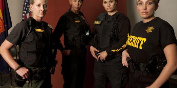 "Maricopa County's ""Police Women"" (left to right) are Lindsey Smith, Deborah Moyer, Kelly Bocardo..."