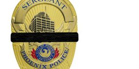 Phoenix Police Shroud Badges for Fallen Firefighters