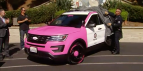 LAPD Unveils Pink Patrol Vehicle for Breast Cancer Awareness