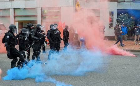 Police Attacked, Property Damaged in Portland May Day Riot