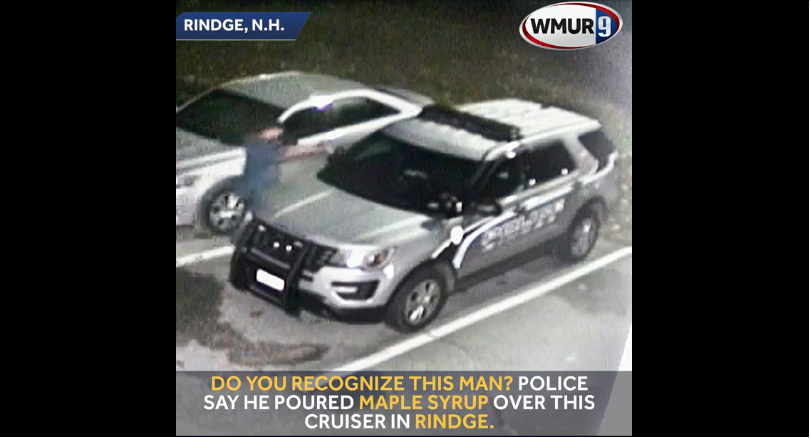 New Hampshire Man Vandalizes Police Car with Maple Syrup
