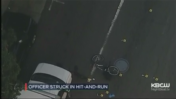 Video: CA Bicycle Officer Hit by SUV, Critically Injured