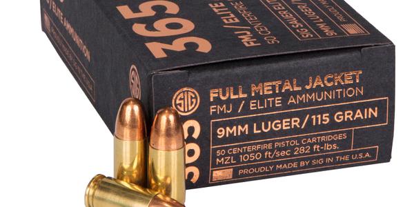 SIG 365 Elite Performance Ammunition in 115-grain 9mm SIG FMJ. (Photo: SIG Sauer)