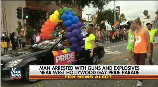 Video: Man Arrested Sunday in California with Weapons May Have Been Targeting Gay Pride Parade