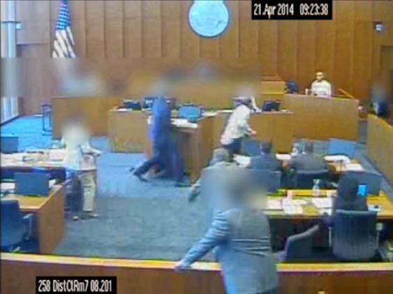 Video: Judge Releases Footage Showing Marshal Shooting Suspect That Attacked Witness in Utah Court