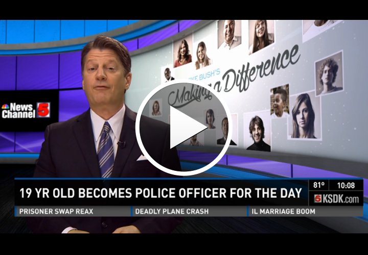 Video: St. Louis Teen Becomes Police Officer for a Day