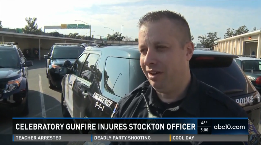 Video: California Officer Hit by Celebratory New Year's Gunfire