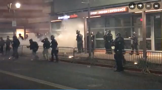 Video: AZ Officers Attacked by Protesters at Trump Rally, Respond with Tear Gas