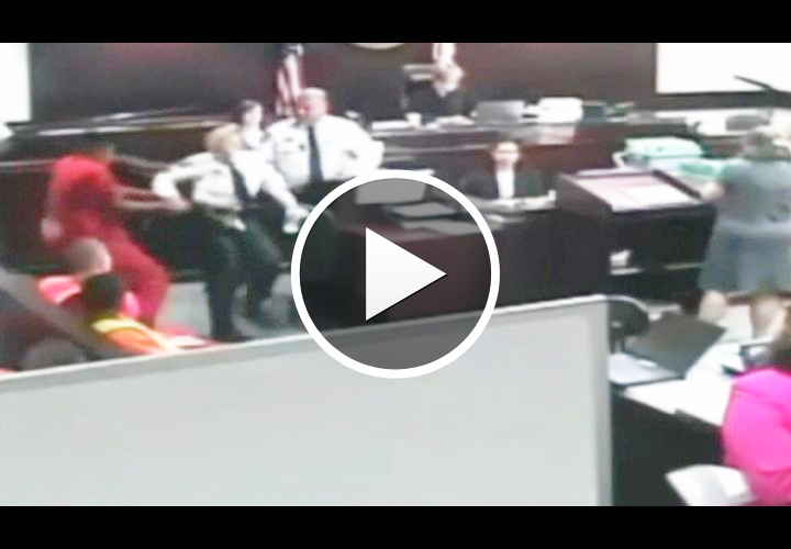 Video: Prisoner Tries Gun Grab In Court