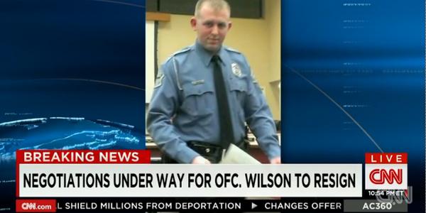 Video: Officer Darren Wilson Discussing Resignation with Ferguson Officials