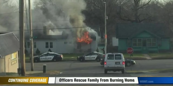 Video: Omaha Officer Rescues Five from Burning House