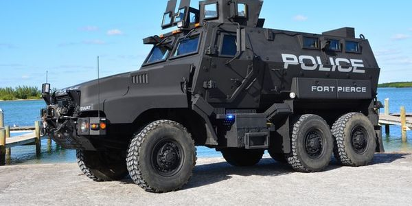 The Fort Pierce PD's new MRAP vehicle was acquired for $2,000 from the Department of Defense....