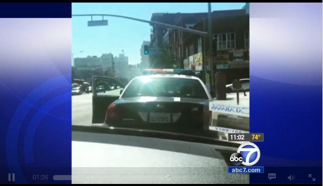 Video: LAPD Says Officer Stalking Video was Rap Promotion, Warrant Issued on Suspect