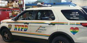 """NYPD Unveils """"Gay Pride"""" Patrol SUV"""