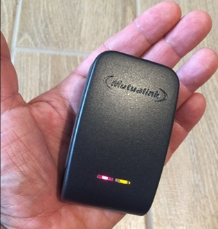 Mutualink's wearable communications gateway is designed to let first responders share multimedia...