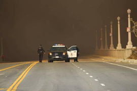 LAPD Responds to Southern California Wildfires