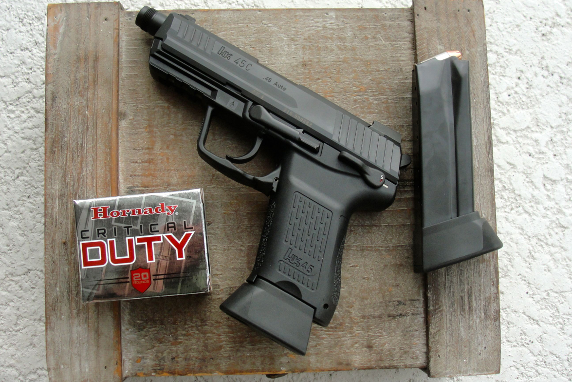 The HK45CT is a compact, polymer-framed combat pistol with a Picatinny rail for accessories and...
