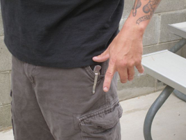 When approaching a subject, focus on movements of the thumb, index finger, and elbow.