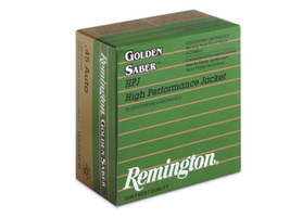 Remington's Golden Saber HPJ: Designed for law enforcement and personal defense, the Golden...
