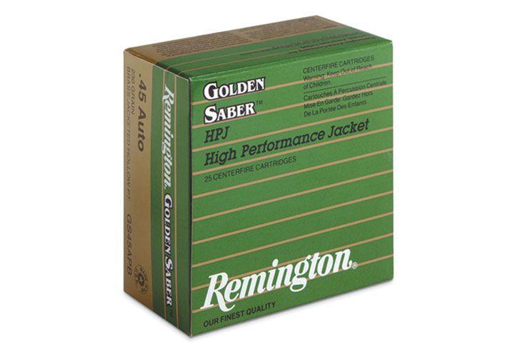 Remington's Golden Saber HPJ: Designed for law enforcement and personal defense, the Golden...