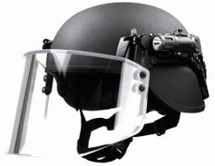 The Busch Protective AMP-1 TP helmet is the lightest and first composite helmet to achieve VPAM...