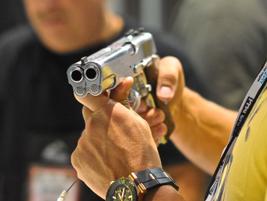 Arsenal Firearms'AF2011-A1 double-barrel 1911 pistol turned plenty of heads.