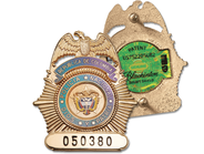 All Blackinton Badges are die struck and created from a solid durable base material like Hi-Glo...
