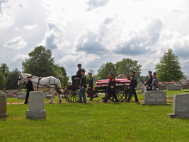 Officer Ellis makes his way toward his final resting place.