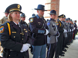 Officers from several surrounding states attended Officer Ellis' service.