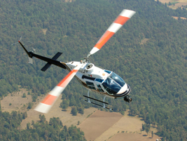 The Dallas Police Department uses Bell Helicopter's two-bladed, single-engine 206 JetRanger,...