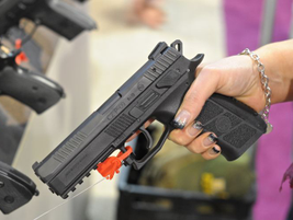 CZ-USA's P-09, which is available in 9mm and .40 S&W, features an ambidextrous safety and...