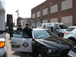 County officers arrive in the city to interact with residents.