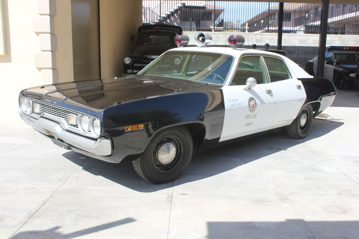 The LAPD patrolled with this 1971 Plymouth Fury. Photo courtesy of the Los Angeles Police Museum.