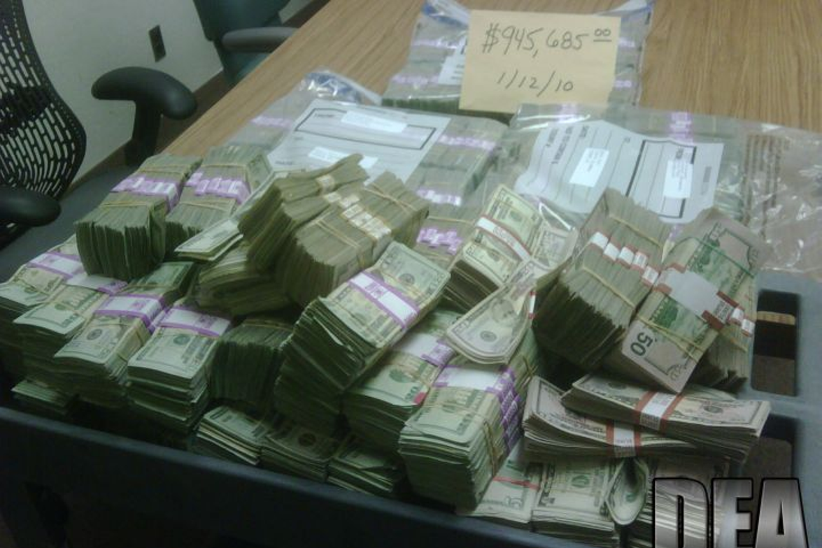 "With ""Project Deliverance,"" which was led by the DEA, agents seized $945,685 in drug proceeds,..."