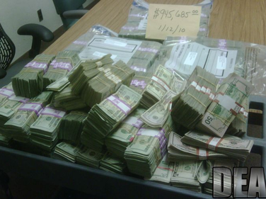 """With """"Project Deliverance,"""" which was led by the DEA, agents seized $945,685 in drug proceeds,..."""