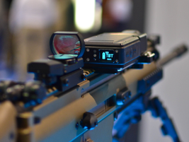 Noptel's Marksmanship Training uses light beams to register hits and computer software to...