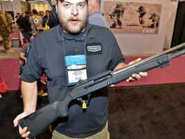 The Remington R12P Tactical shotgun cycles any 12-gauge shell by using a gas system that...