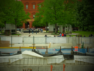 Visitors to the Memorial during National Police Week were able to see the construction for the...