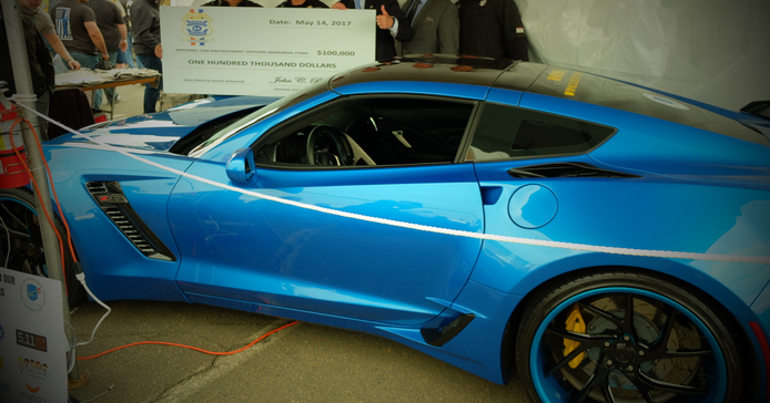 The Federal Law Enforcement Officers Association (FLEOA) raffled off a new Corvette, with the...