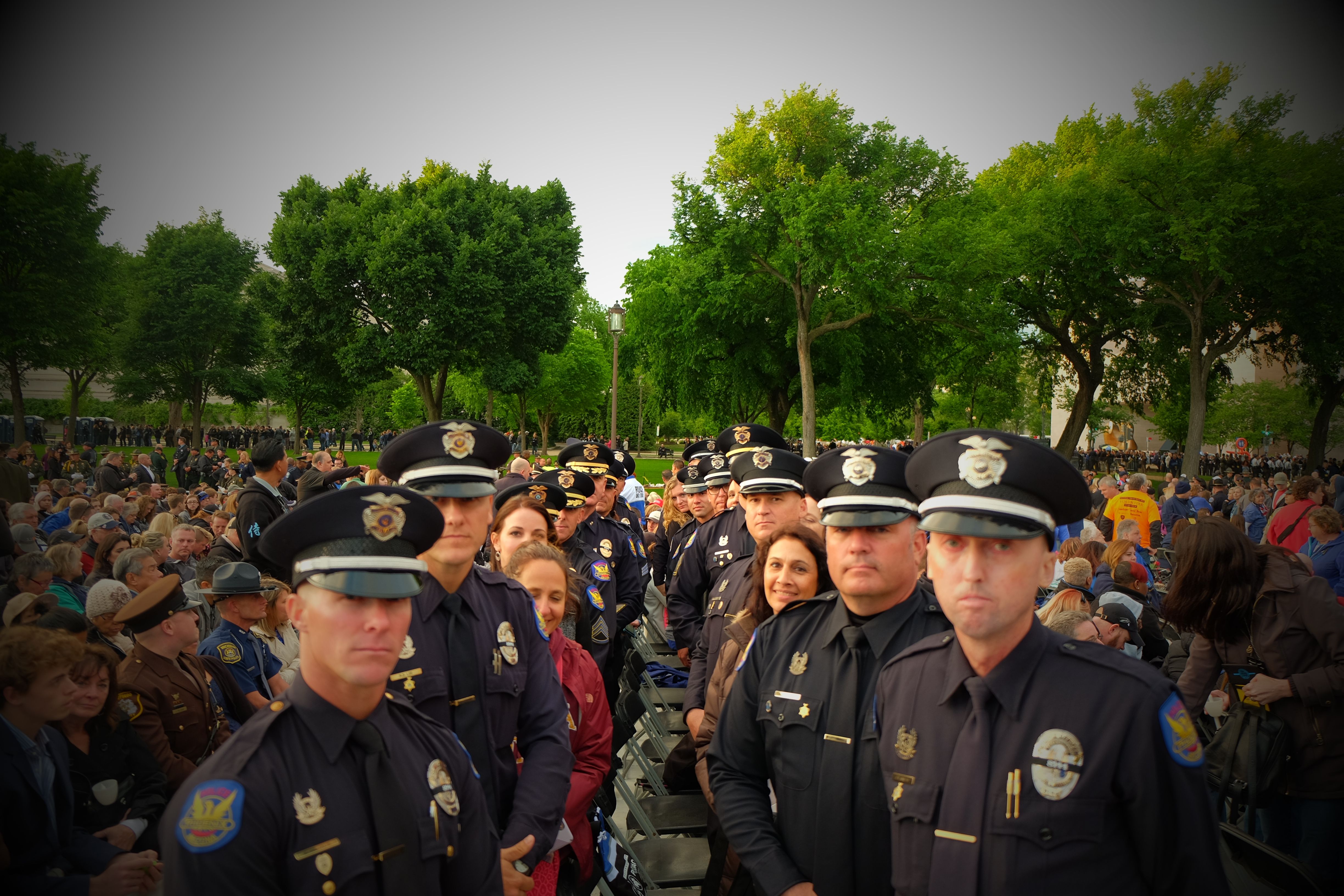 The Unit and Family of Fallen Officer David V. Glasser from the Phoenix Police Department.