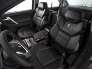 The E7's front seats have been designed to accomomdate duty belts and holsters with service...