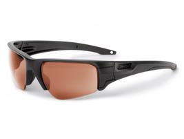 The Crowbar Tactical interchangeable-lens sunglass from ESS features a frameless bottom lens...