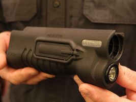 EoTech's integral forend light (IFL 250) for pump guns fits Remington 870s and the Mossberg 500...