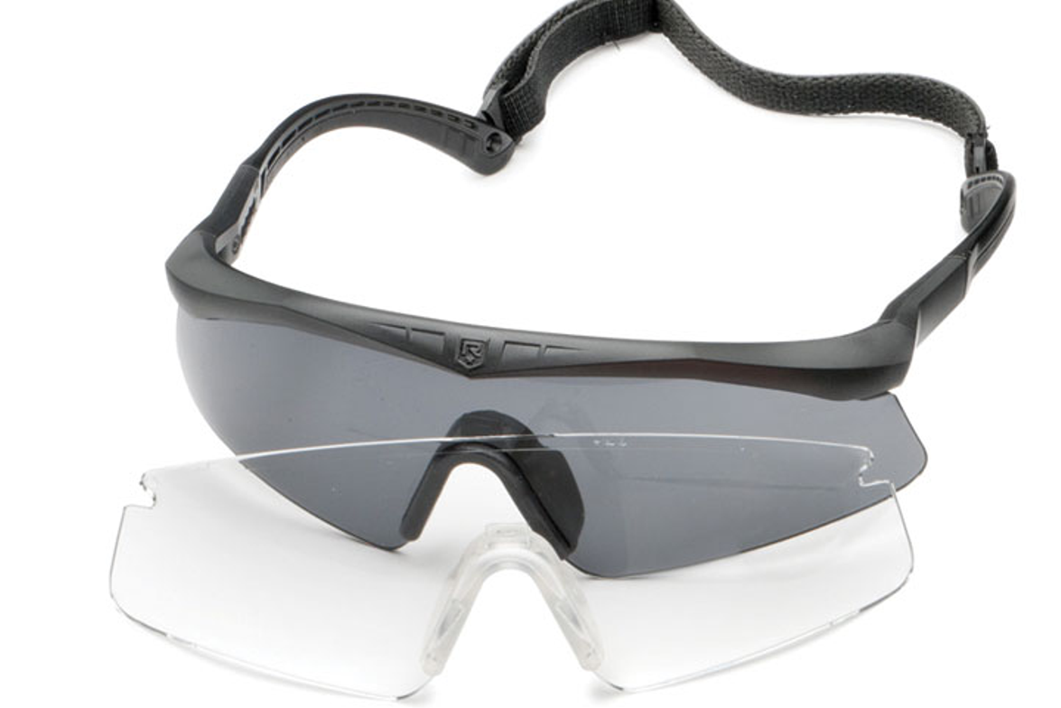 Revision's Small-size Sawfly Military Eyewear System features a tighter base curve lens that...