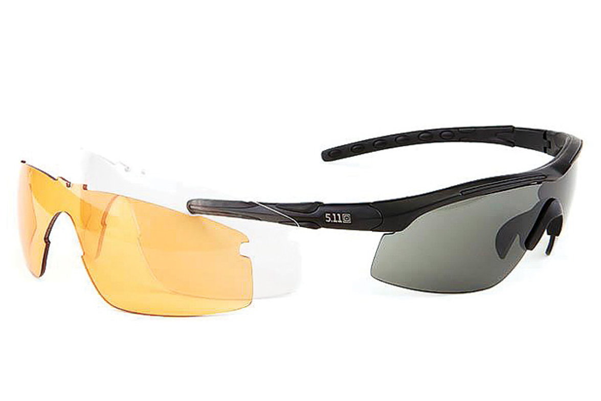 New RAID Eyewear from 5.11 Tactical comes with three easy to change lenses in  smoke, ballistic...