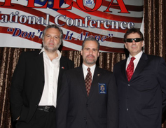 From left to right, Vincent D'Onofrio, actor and spokesperson for the Utah Meth Cops Project;...