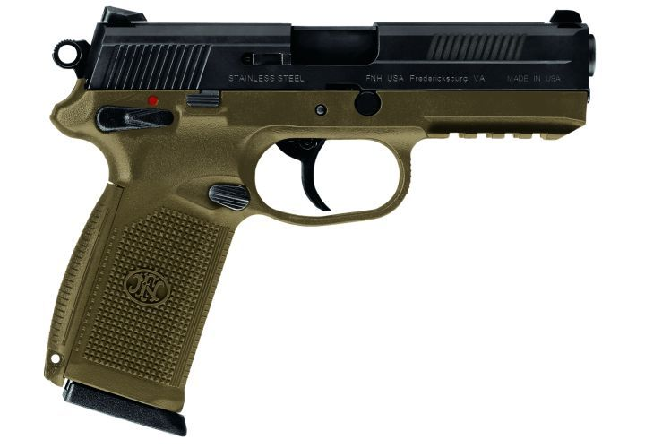 FN continues to pursue the military market for its pistols. The FNX-45 is available with an...