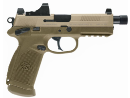 The FNX-45 Tactical is also available in a military-related earth color.