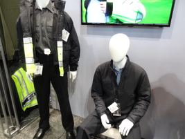 Fechheimer's new Layertech outerwear includes a 37.5 Loft Jacket (left) with material designed...